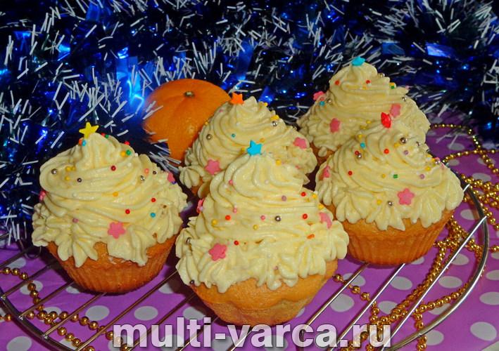 Новогодние кексы Елочки