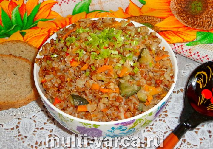 Гречневая каша с овощами в мультиварке
