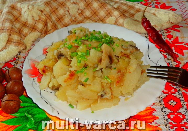 Жареная картошка с шампиньонами в мультиварке
