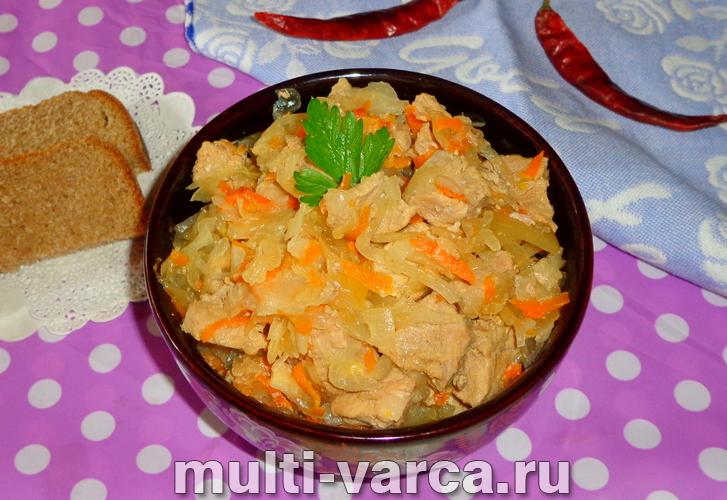 Как приготовить квашеная капуста со свининой в мультиварке