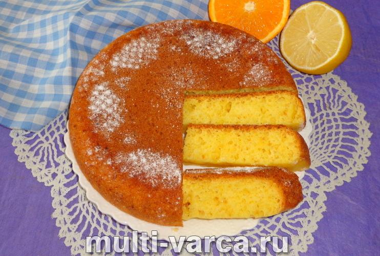 Творожный пирог с апельсином в мультиварке