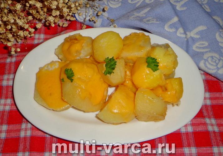 Картошка с сыром и майонезом в мультиварке