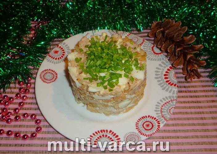 Салат с индейкой и сыром