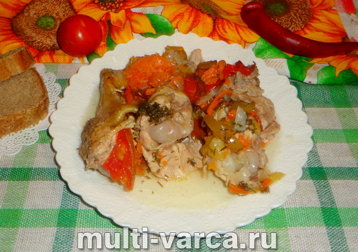 Чахохбили из курицы в мультиварке по-грузински
