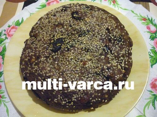 Бездрожжевой диетический хлеб в мультиварке с сухофруктами