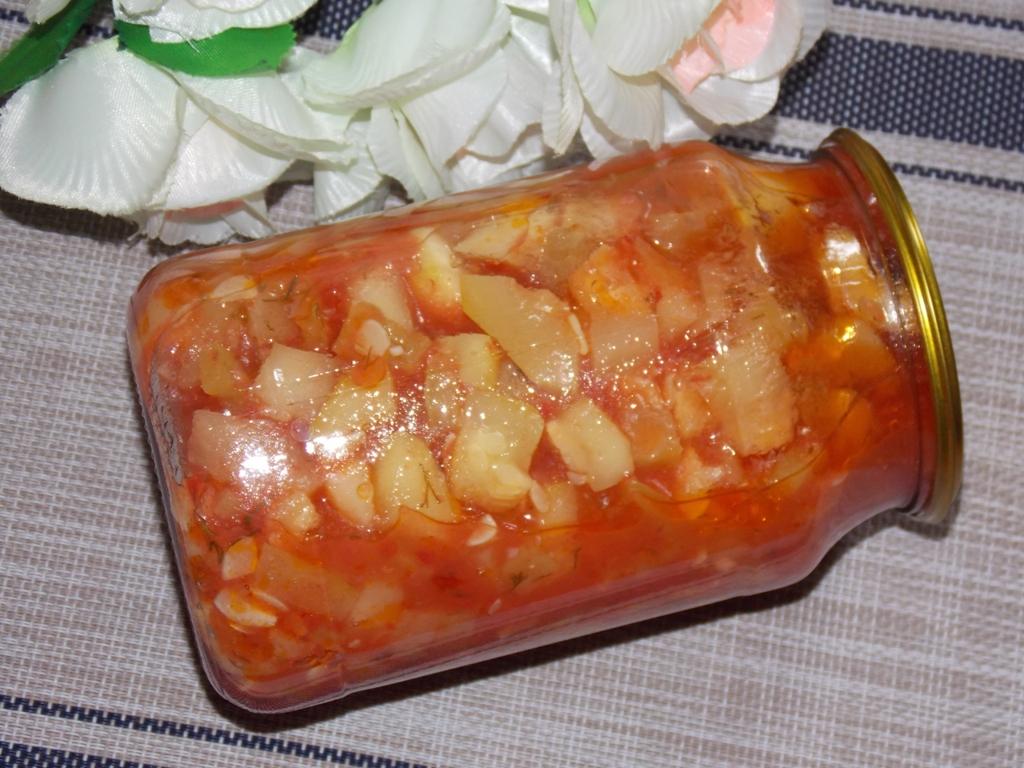 Кабачки с помидорами и болгарским перцем на зиму