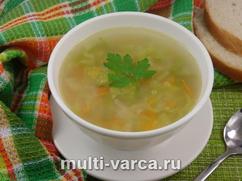 Картофельный суп с китайской капустой в мультиварке