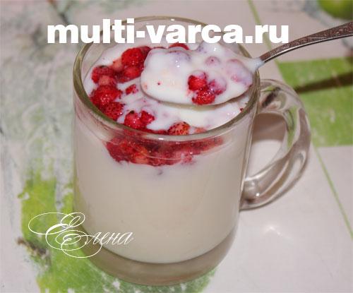 Молочный кисель в мультиварке