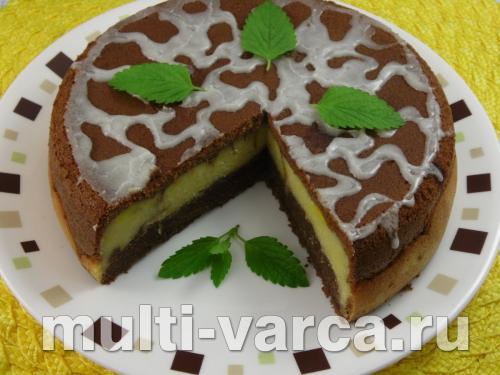 Тыквенный шоколадный пирог в мультиварке 4