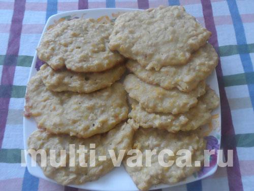 Овсяное печенье с тыквой в мультиварке