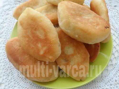 Жареные дрожжевые пирожки с сердцем и легким в мультиварке панасоник