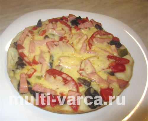 Рецепт быстрой пиццы в мультиварке Редмонд