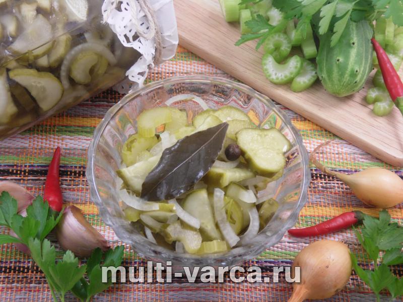 Салат из огурцов и сельдерея на зиму