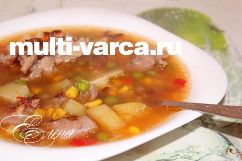 Быстрый овощной суп в мультиварке
