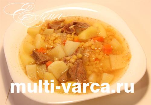 Гороховый суп с мясом в мультиварке Редмонд