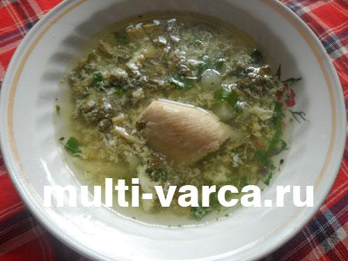 Суп из ревеня с яйцом в мультиварке