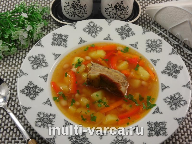 Суп из свиных ребрышек в мультиварке