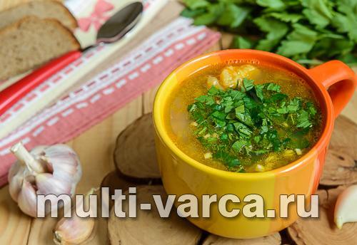 Постный суп с машем и овощами