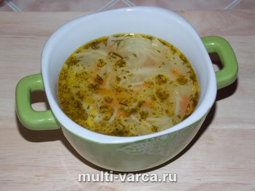 Суп с вермишелью и фрикадельками в мультиварке