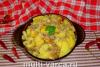 Картошка с фаршем и сыром в мультиварке