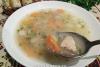 Пшеничный суп с индейкой