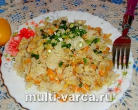Рис с яйцом в мультиварке