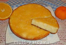 Творожная запеканка с апельсинами в мультиварке