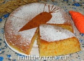 Морковный бисквит в мультиварке