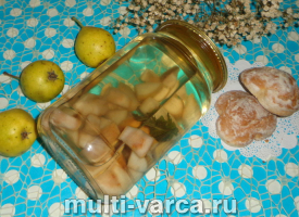 Компот из груши с мятой на зиму