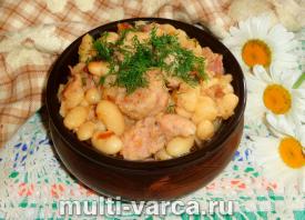 Как приготовить вкусную тушеную фасоль с тушенкой в мультиварке, пошаговый рецепт с фото