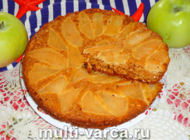 Диетическая шарлотка с яблоками без сахара без масла и без муки в мультиварке