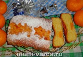 Бисквитный, кекс, мандарины, рецепт, приготовить, вкусно