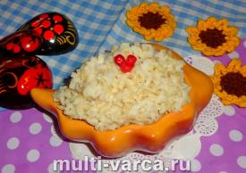 Каша из бурого риса в мультиварке
