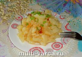 Жареная картошка в сметане в мультиварке