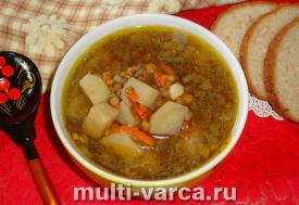 Постный суп из чечевицы в мультиварке