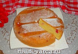 Пирог с красной смородиной в мультиварке