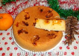 Пирог с мандаринами в мультиварке