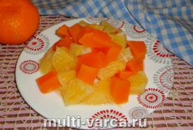 Тыква с апельсином в мультиварке