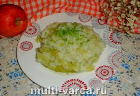 Рис с пекинской капустой в мультиварке