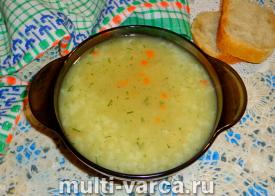 Суп в пакетиках в мультиварке