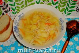 Суп с вермишелью и картошкой в мультиварке