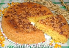 Кукурузный бисквит в мультиварке