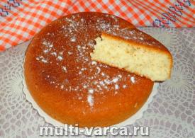Пирог без яиц на кефире в мультиварке