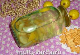 Компот из груш с лимоном на зиму