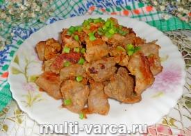 Шашлык из свинины в мультиварке с луком и уксусом