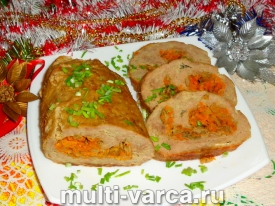 Как приготовить запеченный рулет из куриного фарша в духовке в фольге с овощной начинкой, пошаговый рецепт с фото