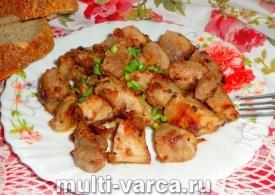 Шашлык из свинины с киви в мультиварке