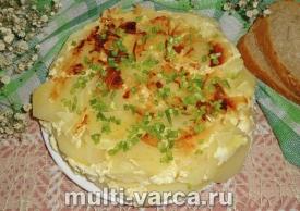 Картофельная запеканка с сыром в мультиварке