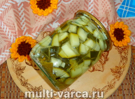 Кабачки в кисло-сладком соусе на зиму