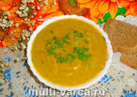 Суп-пюре из брокколи в мультиварке